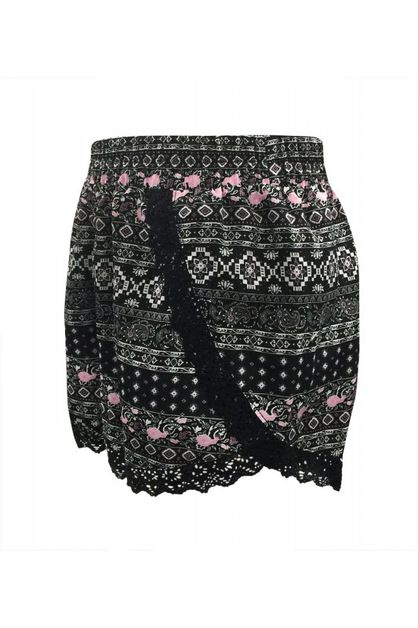 Aztec Tribal Kids Shorts Girls Lace - orangeshine.com