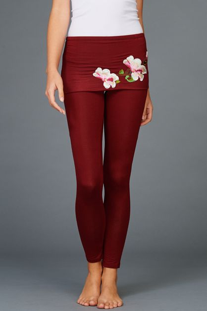 Japanese Flower Patch Yoga Pants - orangeshine.com