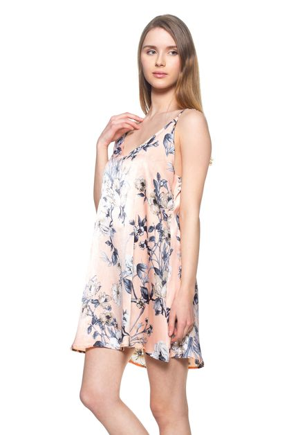 Floral Print Slip Dress - orangeshine.com