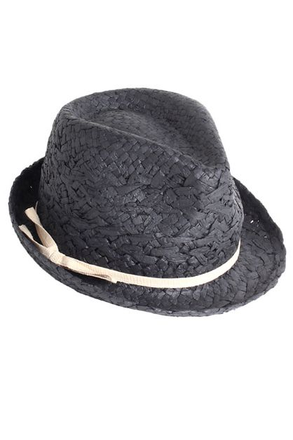 Paper Fedora With Bow Band - orangeshine.com