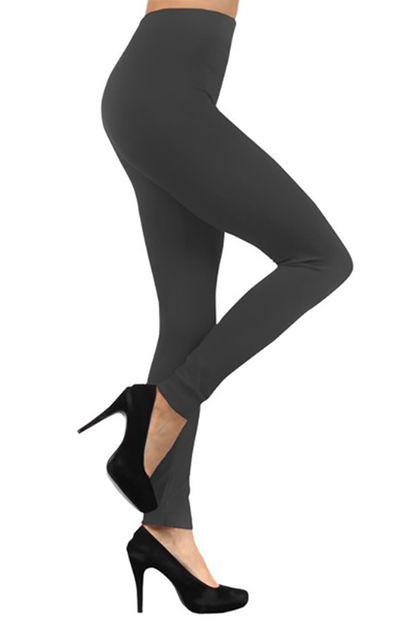 Peached Solid Color Leggings - orangeshine.com