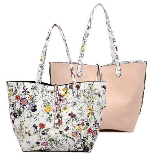 Revesible Flower 2-in-1 Shopper - orangeshine.com