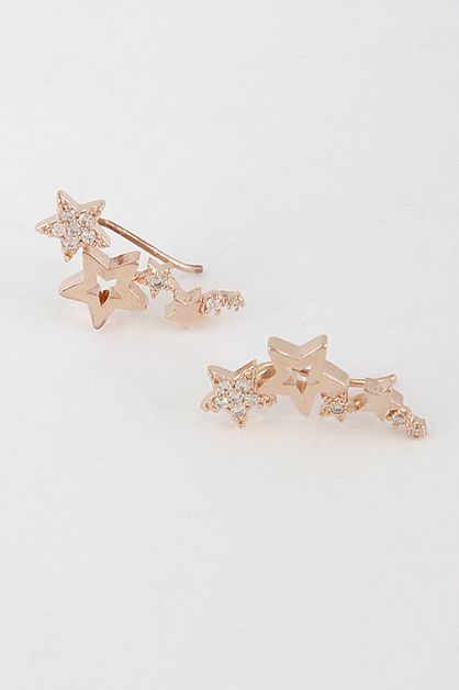In Love With Stars Earrings - orangeshine.com