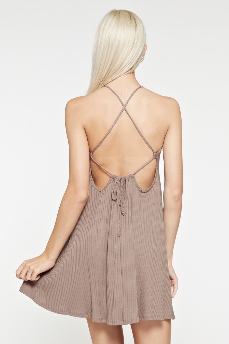 CROSS OPEN TIE BACK DRESS - orangeshine.com