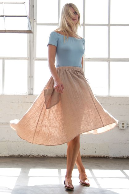 HIGH LOW SKIRT - orangeshine.com