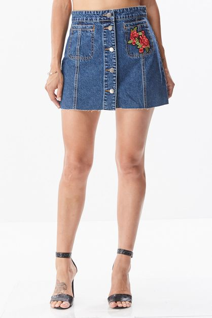 Denim Skater Skirt - orangeshine.com