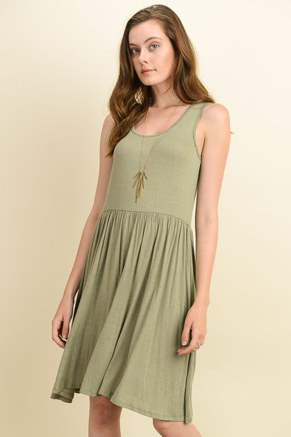 linen sleeveless mini dress - orangeshine.com