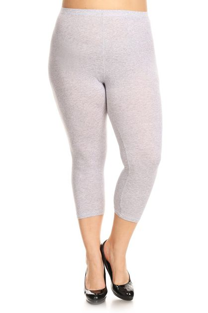CAPRI COTTON SPANDEX CAPRI LEGGINGS - orangeshine.com