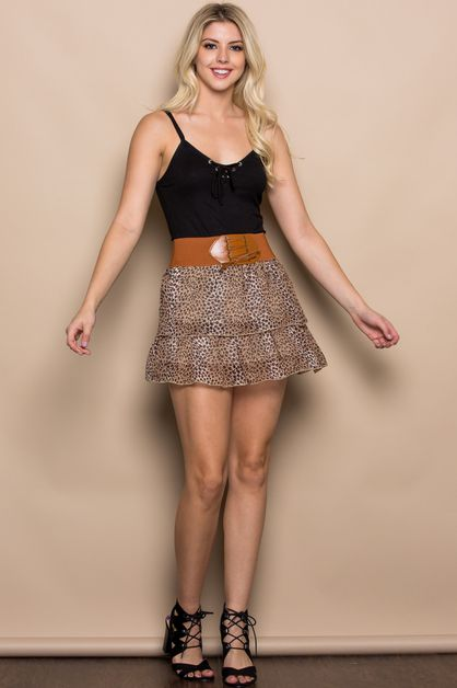 Fancy Two-Layered Skirt - orangeshine.com