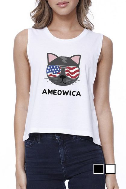 AMEOWICA Crop Top - orangeshine.com