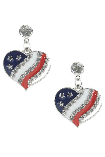 American Flag Dangle Earring - orangeshine.com