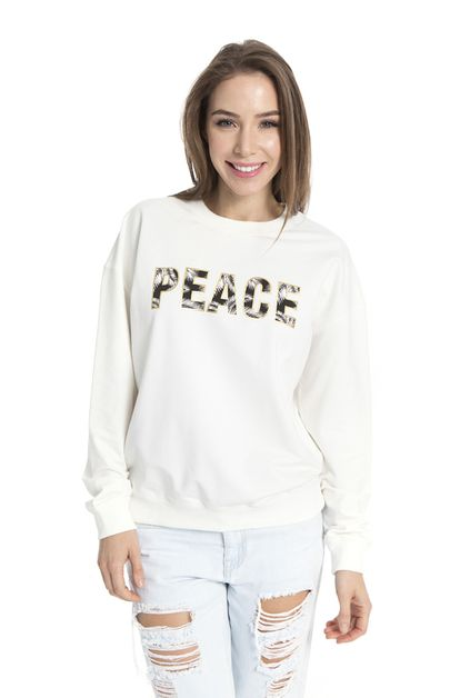TROPICAL PEACE CREW-NECK SWEATSHIRT  - orangeshine.com
