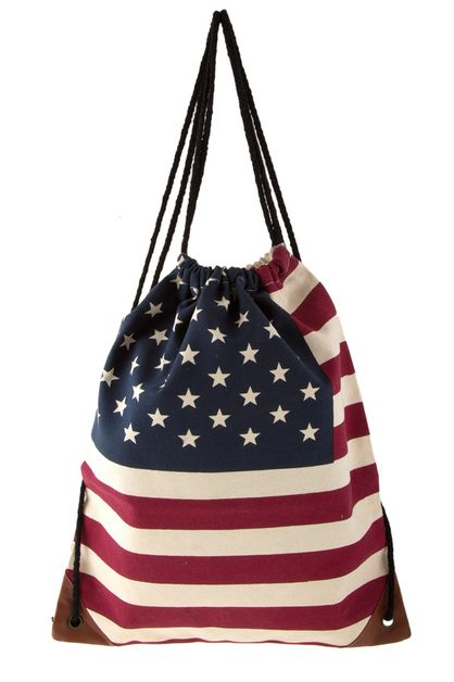 American flag print backpack - orangeshine.com