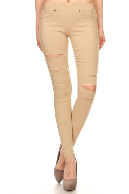 Ripped fashion pants - orangeshine.com
