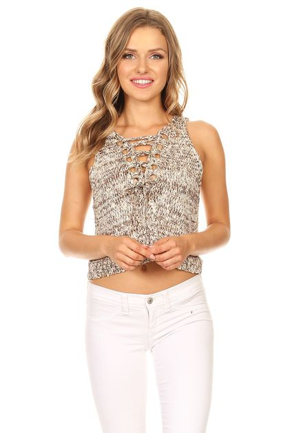 Knitted crop top - orangeshine.com