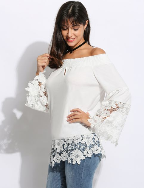 off shoulder lace - orangeshine.com