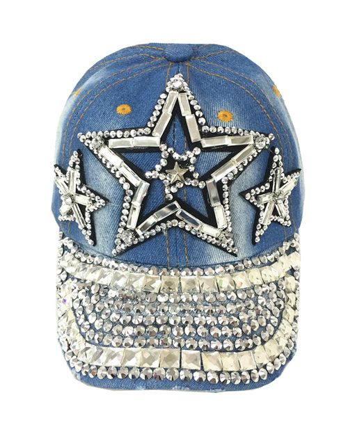 Kids rhinestone denim hat  - orangeshine.com