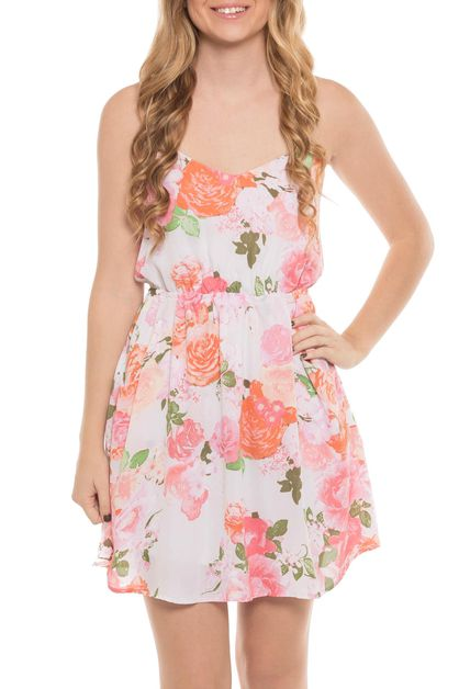 Floral open back dress - orangeshine.com