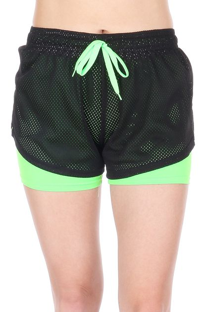 Womens Activewear Yoga Shorts - orangeshine.com