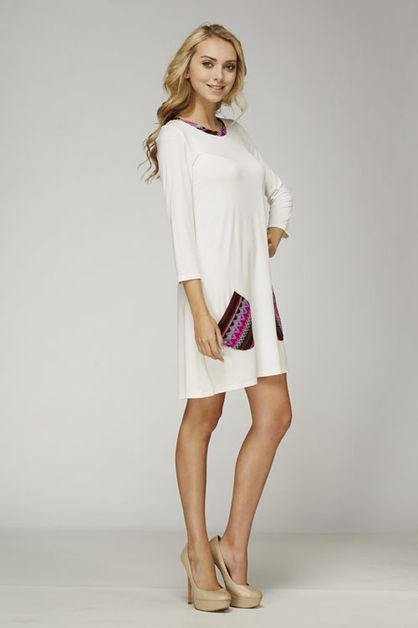 Solid Tunic Dress - orangeshine.com