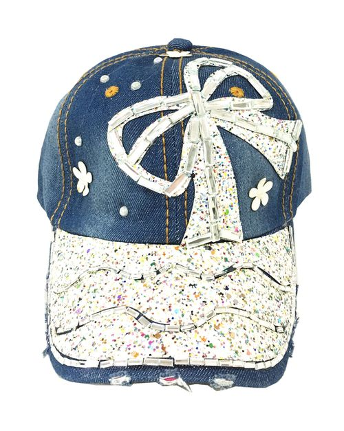 Rhinestone denim hat - orangeshine.com