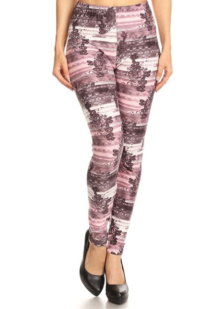 PRINTED FULL LENGTH LEGGINGS - orangeshine.com