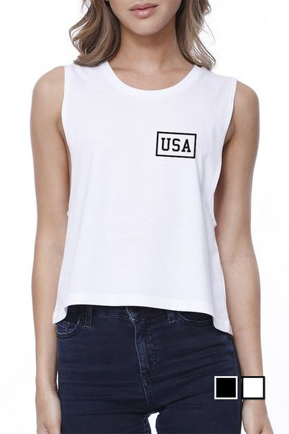 MINI USA Crop Tee - orangeshine.com