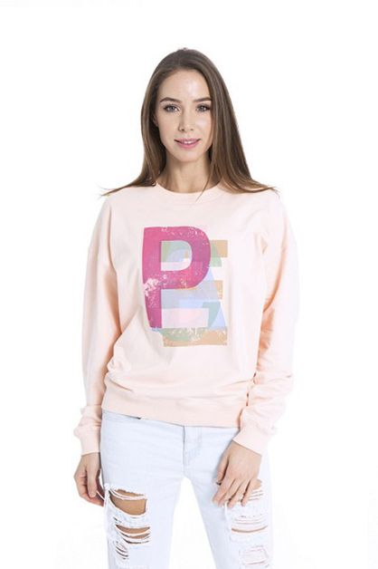 OVERLAP PEACE GRAPHIC SWEATSHIRT  - orangeshine.com