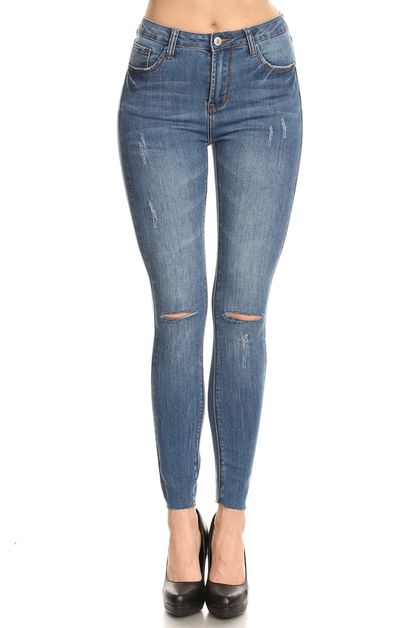 High Rise Ankle Skinny - orangeshine.com