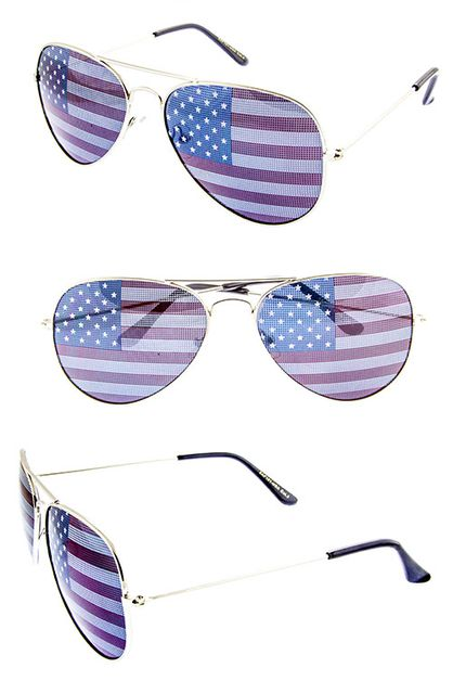 USA American Flag Sunglasses - orangeshine.com
