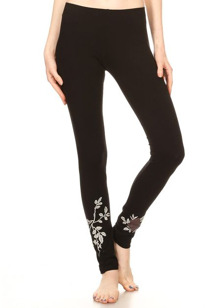 EMBROIDERED  LEGGINGS  - orangeshine.com