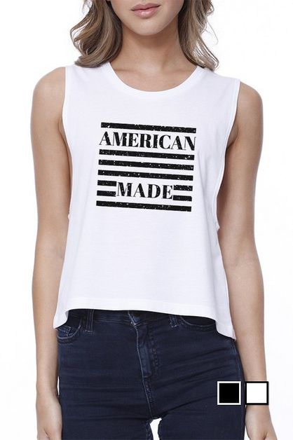AMERICAN MADE Crop Top - orangeshine.com