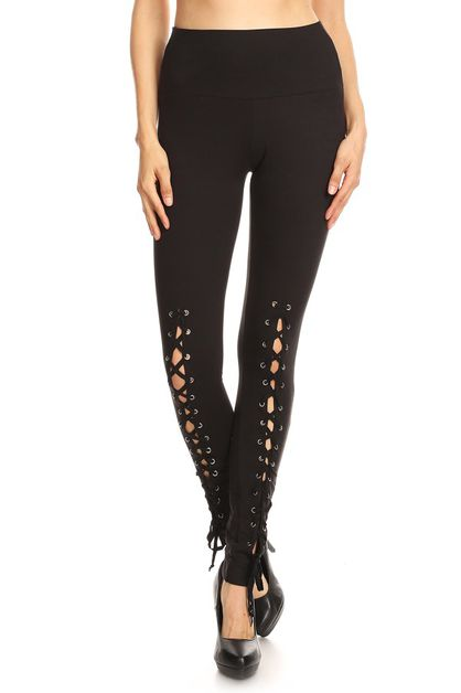 Lace up fashion legging - orangeshine.com