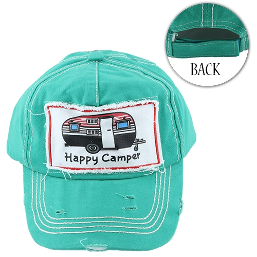 d70d3373153e4 YOUR FASHION WHOLESALE - Happy Camper Baseball Hat