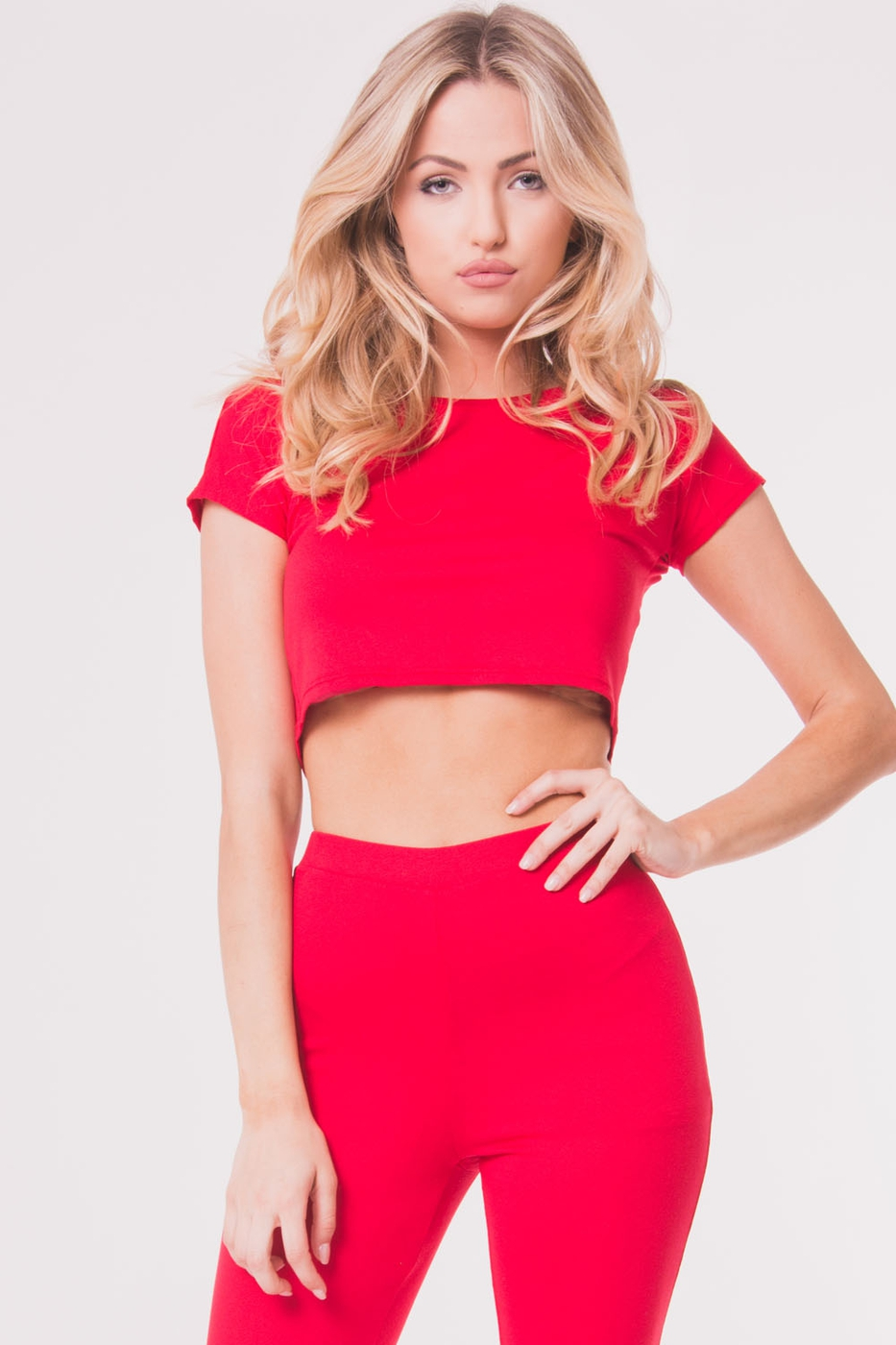 SHORT SLEEVE CROP TOP - orangeshine.com
