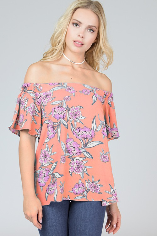 BOHO OFF SHOULDER TOP - orangeshine.com