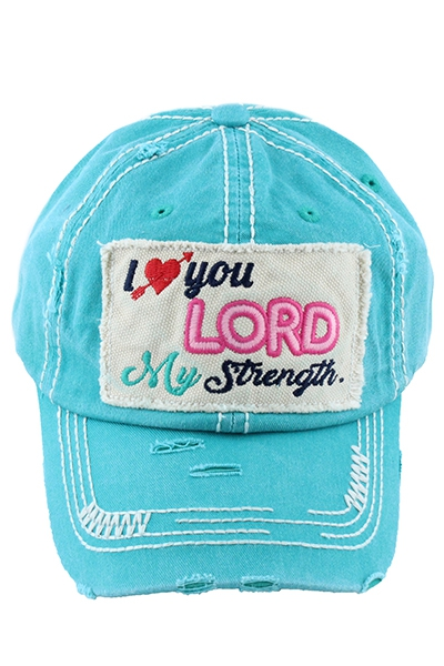 I Love You Lord My Strength Hat - orangeshine.com
