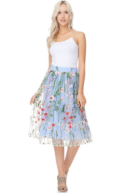 Pushing Up Daisies Skirt - orangeshine.com
