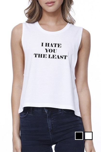 I Hate You The Least Crop Tee - orangeshine.com