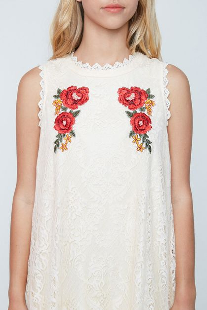 EMBROIDERED DRESS - orangeshine.com