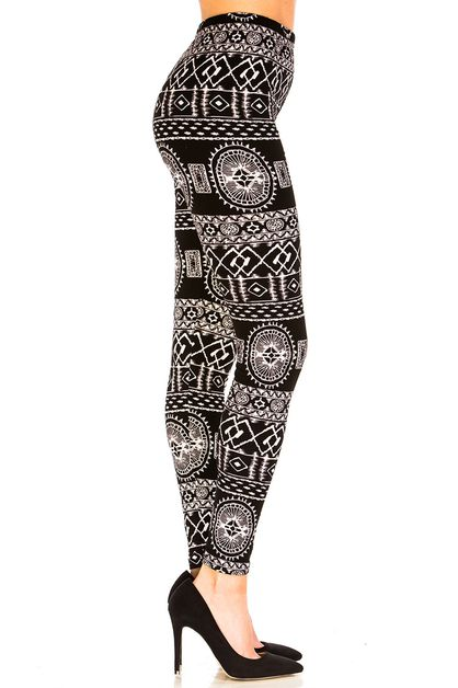 Tribal Inspired Leggings - orangeshine.com