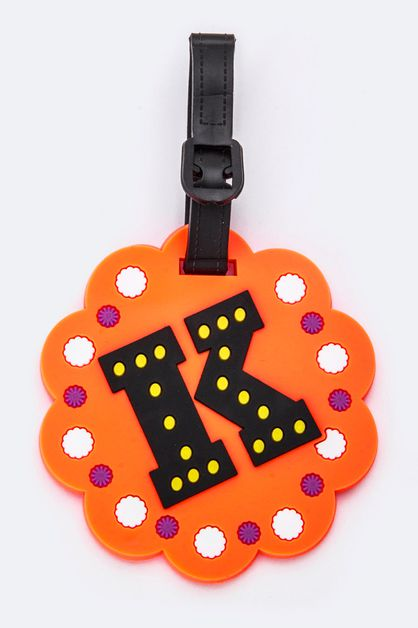 Initial K Jelly Bag and Luggage Tag - orangeshine.com
