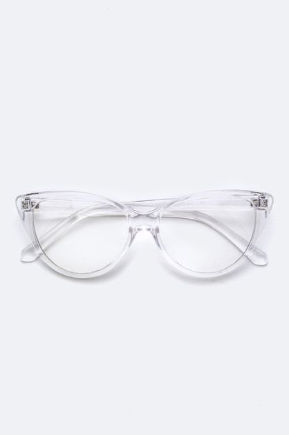 Clear Cat Eye Optical Glasses - orangeshine.com