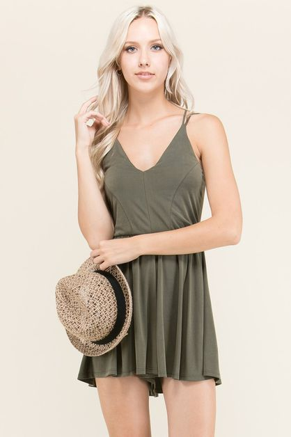 MULTI STRAP ROMPER TANK DRESS - orangeshine.com