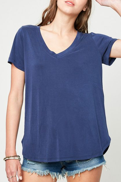 V- NECK TOP - orangeshine.com