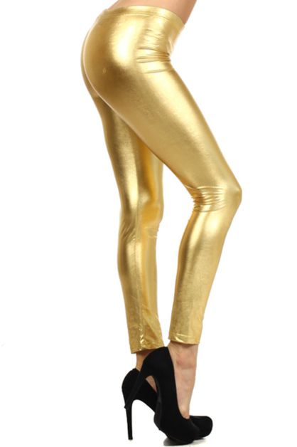 PU shinny legging - orangeshine.com