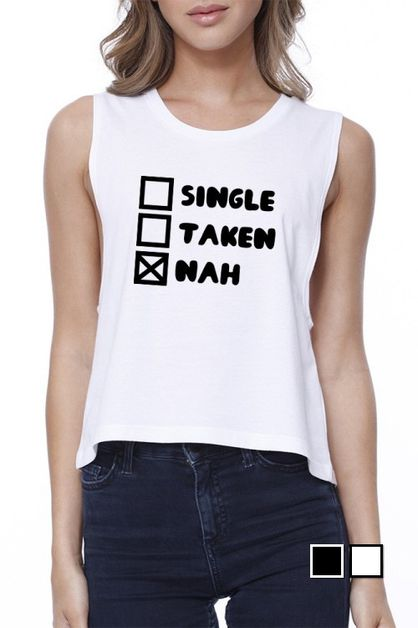 Single Taken Nah Crop Tee - orangeshine.com