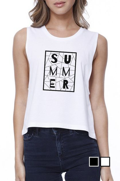 SUMMER GEOMETRIC CROP TEE - orangeshine.com