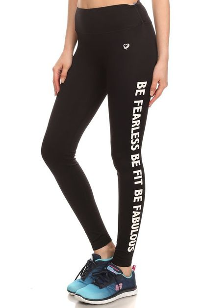 Yoga Pants Wording Leggings Gym  - orangeshine.com