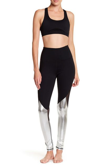 Metallic Mesh Legging - orangeshine.com